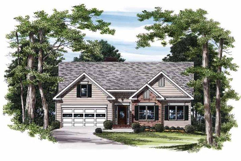 Ranch Exterior - Front Elevation Plan #927-811 - Houseplans.com