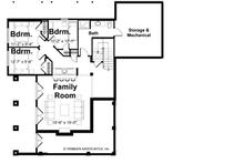 Traditional Floor Plan - Lower Floor Plan Plan #928-44