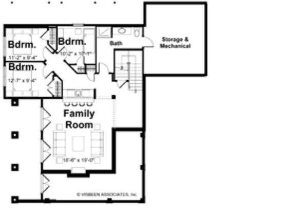 House Plan Design - Traditional Floor Plan - Lower Floor Plan #928-44