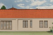 Mediterranean Style House Plan - 3 Beds 2 Baths 1953 Sq/Ft Plan #1058-8 Exterior - Rear Elevation