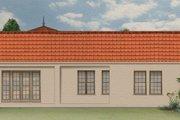 Mediterranean Style House Plan - 3 Beds 2 Baths 1953 Sq/Ft Plan #1058-8 Exterior - Rear Elevation