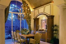 Architectural House Design - Mediterranean Interior - Dining Room Plan #930-319