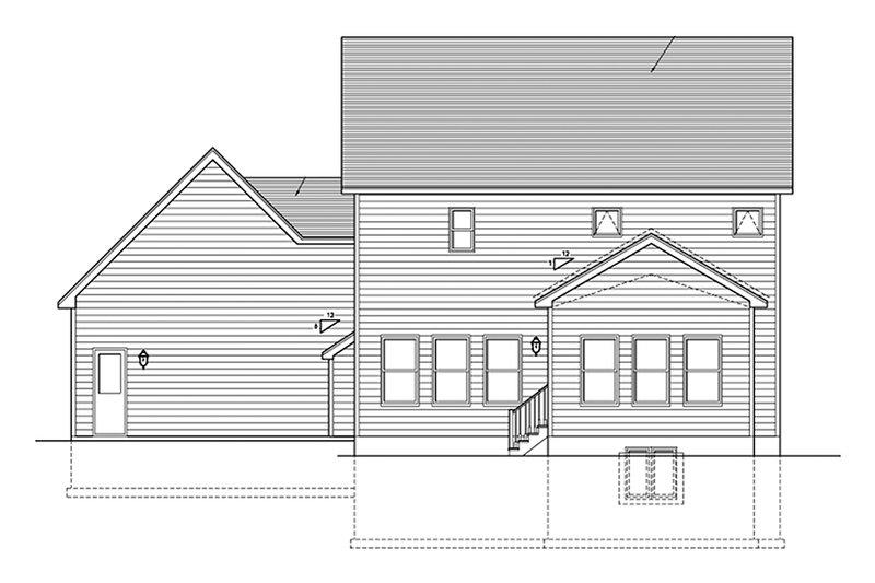 Traditional Exterior - Rear Elevation Plan #1010-119 - Houseplans.com