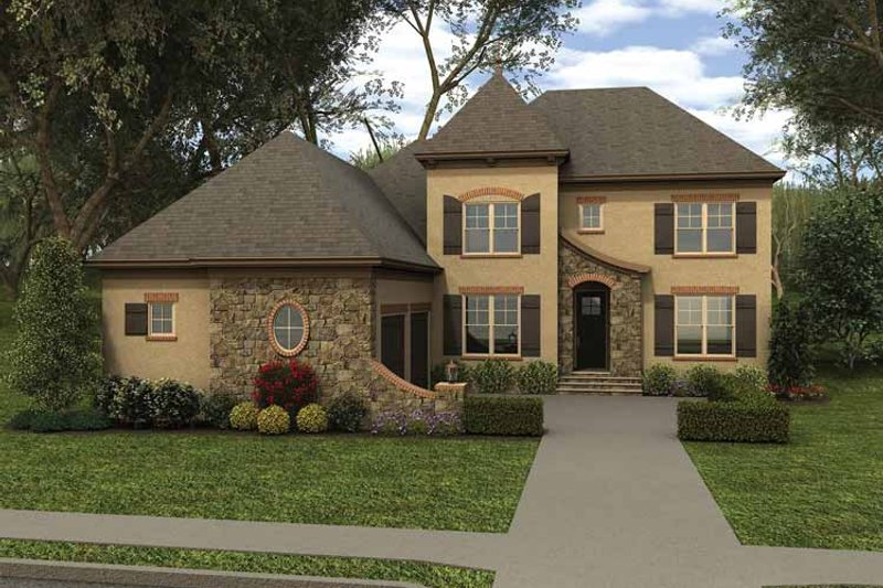 Country Exterior - Front Elevation Plan #413-909 - Houseplans.com