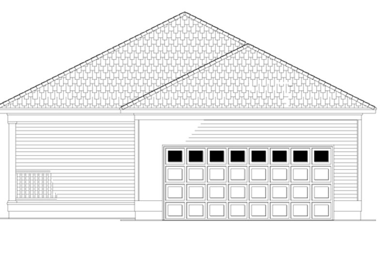 Country Exterior - Rear Elevation Plan #17-3057 - Houseplans.com