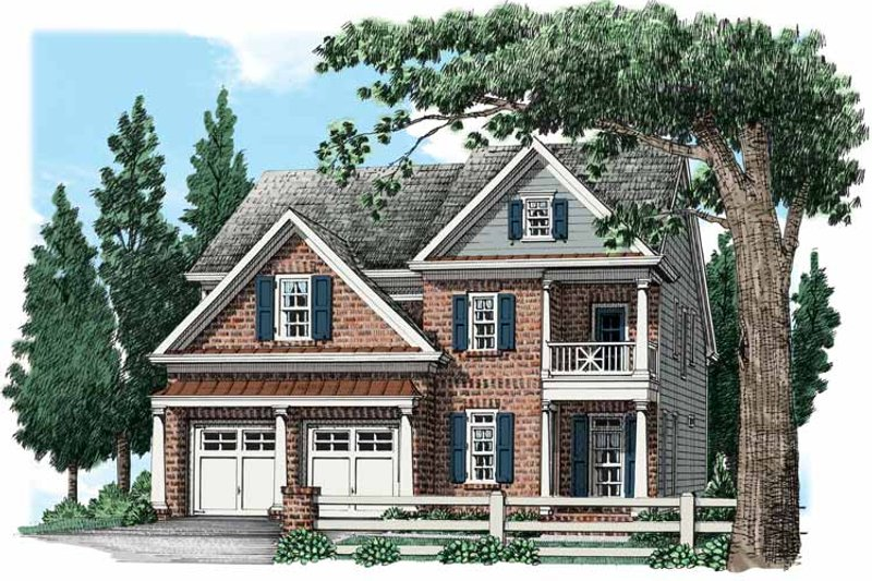 Traditional Exterior - Front Elevation Plan #927-537 - Houseplans.com
