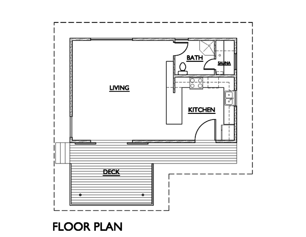 Modern Floor Plan - Main Floor Plan Plan #890-4