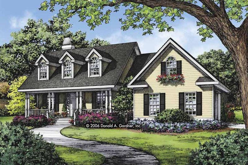 Country Exterior - Front Elevation Plan #929-815