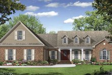 Architectural House Design - Country Exterior - Front Elevation Plan #21-423