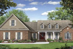 House Design - Country Exterior - Front Elevation Plan #21-423