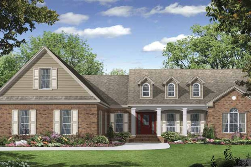 Country Exterior - Front Elevation Plan #21-423 - Houseplans.com
