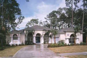 Mediterranean Exterior - Front Elevation Plan #417-651