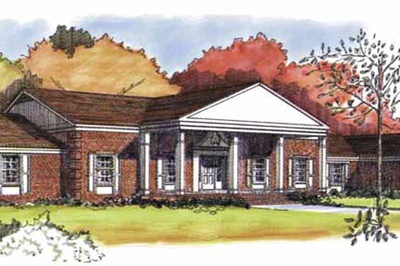 Classical Exterior - Front Elevation Plan #320-776