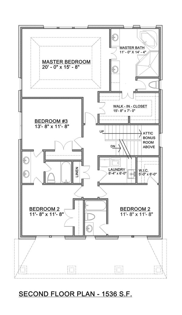 Craftsman Floor Plan - Upper Floor Plan Plan #30-341