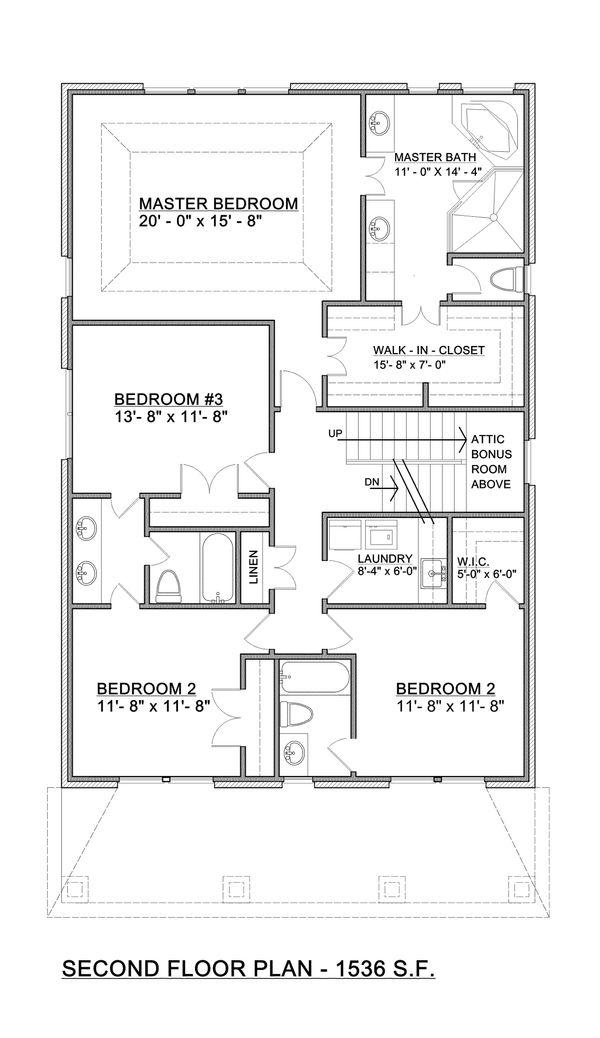 Architectural House Design - Craftsman Floor Plan - Upper Floor Plan #30-341