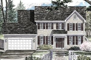 Home Plan - Colonial Exterior - Front Elevation Plan #316-291