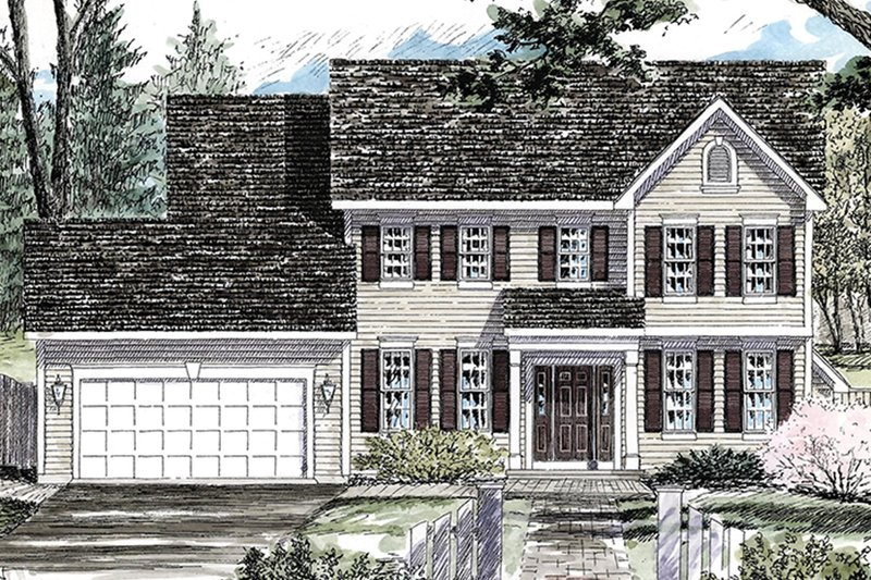 Architectural House Design - Colonial Exterior - Front Elevation Plan #316-291