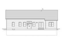 Ranch Exterior - Rear Elevation Plan #1010-31