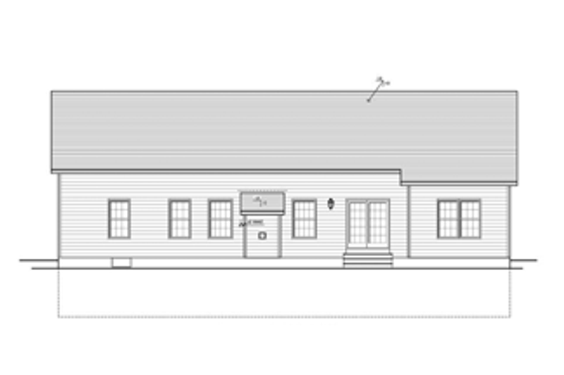 Ranch Exterior - Rear Elevation Plan #1010-31 - Houseplans.com