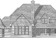 Dream House Plan - European Exterior - Rear Elevation Plan #70-496
