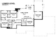 Craftsman Style House Plan - 4 Beds 2.5 Baths 4289 Sq/Ft Plan #51-575 Floor Plan - Lower Floor Plan