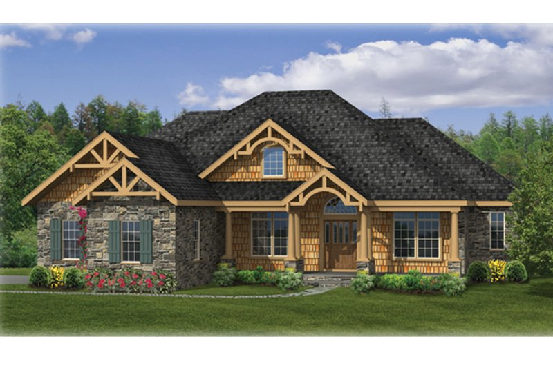 Craftsman Exterior - Front Elevation Plan #314-271 - Houseplans.com