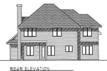 Dream House Plan - Traditional Exterior - Rear Elevation Plan #70-394