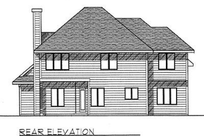 Traditional Exterior - Rear Elevation Plan #70-394 - Houseplans.com