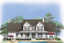Country Exterior - Rear Elevation Plan #929-831