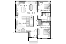 Contemporary Floor Plan - Main Floor Plan Plan #23-2572