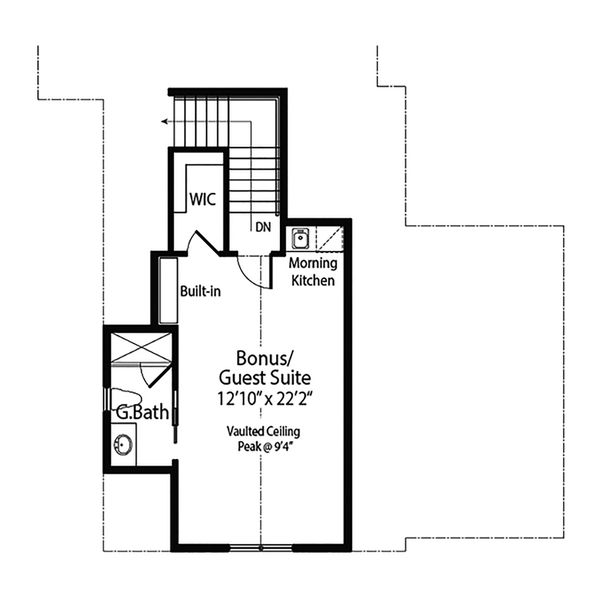 Farmhouse Floor Plan - Upper Floor Plan #938-105