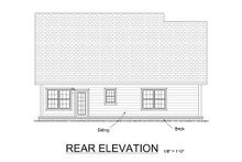 House Design - Traditional Exterior - Rear Elevation Plan #513-13