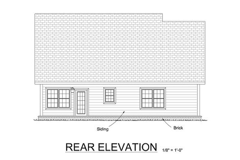 Traditional Exterior - Rear Elevation Plan #513-13 - Houseplans.com