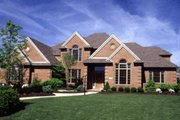 European Style House Plan - 4 Beds 3.5 Baths 3448 Sq/Ft Plan #20-1130 Exterior - Front Elevation