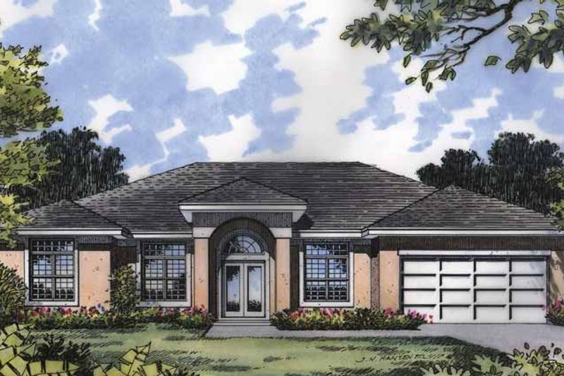 Mediterranean Exterior - Front Elevation Plan #417-593
