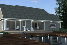 Craftsman Exterior - Rear Elevation Plan #51-514