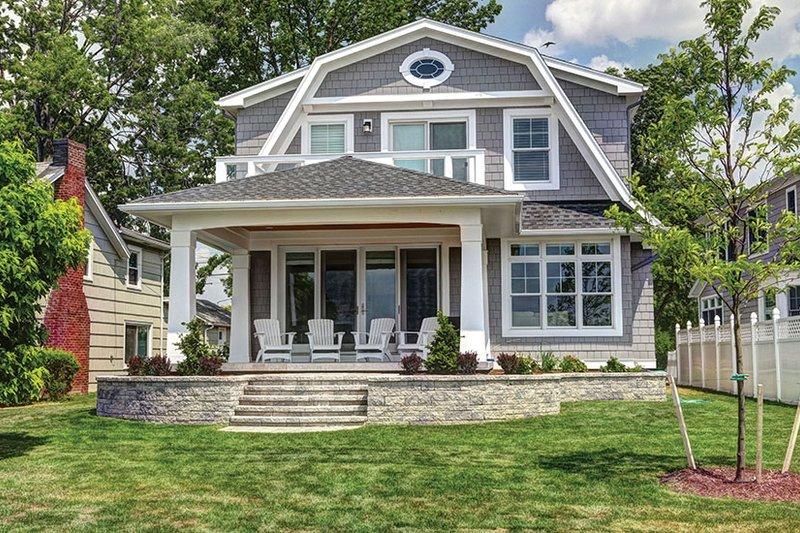 Colonial Exterior - Rear Elevation Plan #1010-127 - Houseplans.com