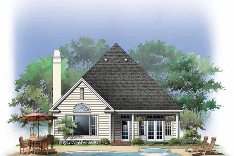 Country Exterior - Rear Elevation Plan #929-760 - Houseplans.com