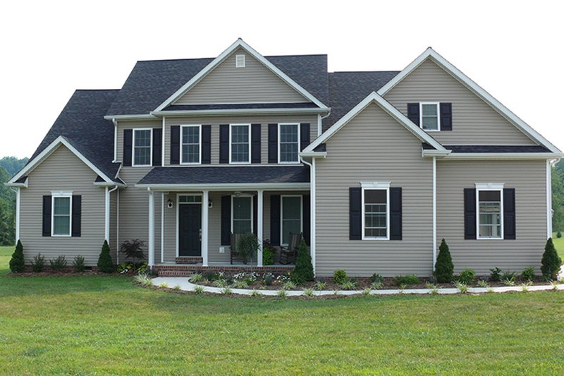 Colonial Exterior - Front Elevation Plan #927-561 - Houseplans.com
