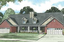 Traditional Exterior - Front Elevation Plan #17-2694