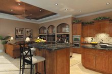 Mediterranean Interior - Kitchen Plan #930-175