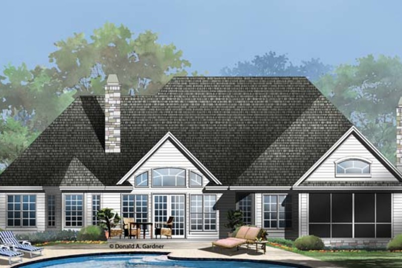 Country Exterior - Rear Elevation Plan #929-955 - Houseplans.com