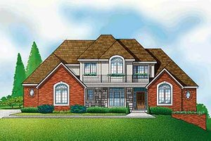 Traditional Exterior - Front Elevation Plan #67-298