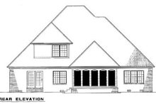 House Design - Traditional Exterior - Rear Elevation Plan #17-2045