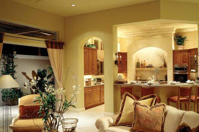 Mediterranean Interior - Family Room Plan #930-104 - Houseplans.com