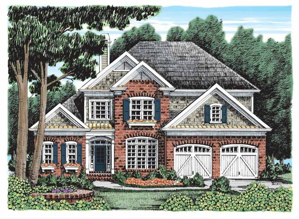 Country Exterior Front Elevation Plan 927 918