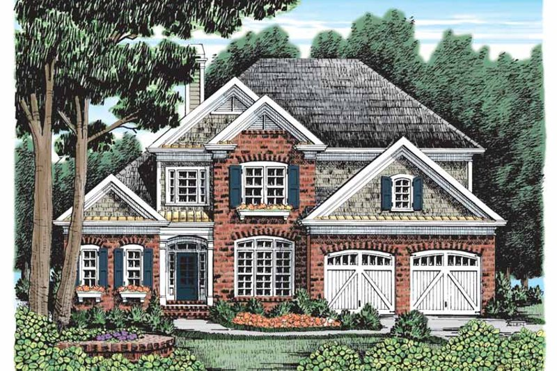 Country Exterior - Front Elevation Plan #927-918