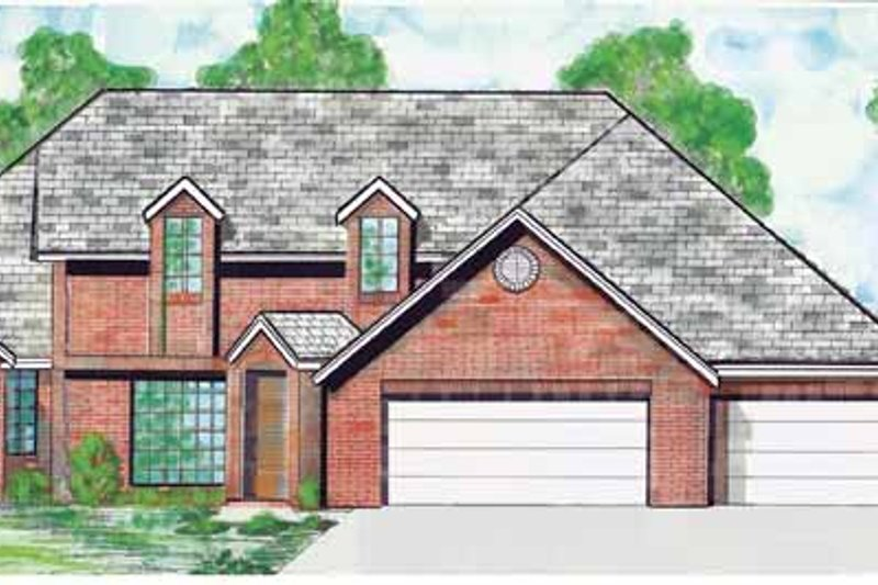 Traditional Exterior - Front Elevation Plan #52-257 - Houseplans.com