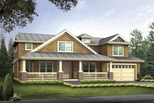 Country Exterior - Front Elevation Plan #132-497