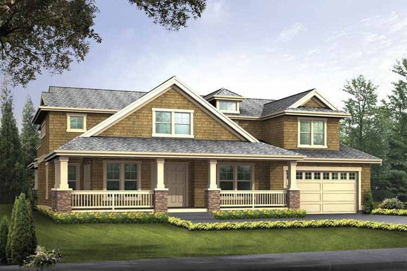 Country Exterior - Front Elevation Plan #132-497 - Houseplans.com